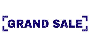Grunge Textured GRAND SALE Stamp Seal Inside Corners vector illustration
