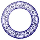 Grunge Textured Greek Classic Round Frame Royalty Free Stock Image