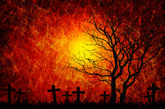 Grunge textured Halloween night background Stock Image