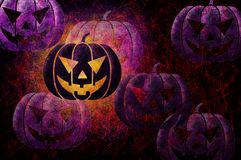 Grunge textured Halloween night background Royalty Free Stock Image