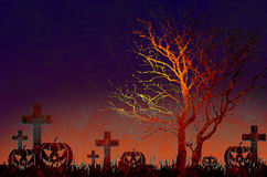 Grunge textured Halloween night background. Grunge textured Halloween for background Stock Image