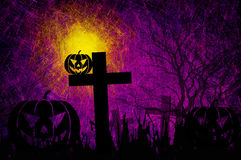 Grunge textured Halloween night background Stock Photo