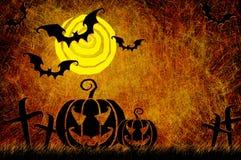 Grunge textured Halloween night background Royalty Free Stock Image