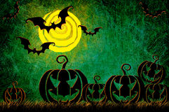 Grunge textured Halloween night background Royalty Free Stock Images