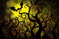 Grunge textured Halloween night background Stock Image