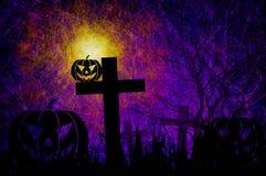 Grunge textured Halloween night background Stock Images