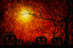 Grunge textured Halloween night background Royalty Free Stock Photo
