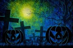 Grunge textured Halloween night background Royalty Free Stock Photos