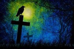 Grunge textured Halloween night background Stock Photos