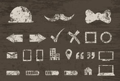 Grunge Textured Icons Royalty Free Stock Images