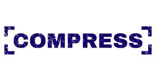 Grunge Textured kompresu znaczka foka Między kątami ilustracja wektor