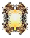 Grunge textured leopard frame Royalty Free Stock Photos