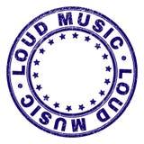 Grunge Textured LOUD MUSIC Round Stamp Seal royalty free illustration