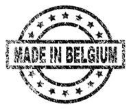 Grunge Textured MADE IN BELGIUM Stamp Seal vector illustration