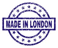 Grunge Textured MADE IN LONDON Stamp Seal stock illustration