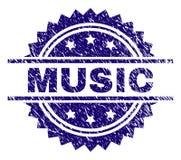 Grunge Textured MUSIC Stamp Seal vector illustration
