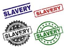 Grunge Textured niewolnictwo znaczka foki royalty ilustracja
