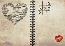 Grunge textured o caderno Imagem de Stock Royalty Free