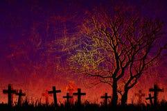 Grunge textured o fundo da noite de Halloween Imagem de Stock Royalty Free