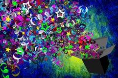 Grunge textured para o presente de feriado Imagens de Stock