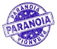 Grunge Textured PARANOIA Stamp Seal stock illustration