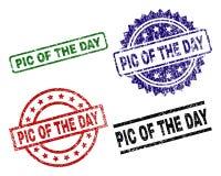 Grunge Textured PIC dnia znaczka foki royalty ilustracja