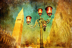 Grunge textured picture of Venice Royalty Free Stock Images
