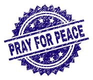 Grunge Textured PRAY FOR PEACE Stamp Seal vector illustration