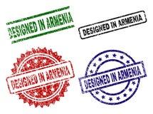 Grunge Textured PROJEKTUJE W ARMENIA foki znaczkach Zdjęcie Royalty Free