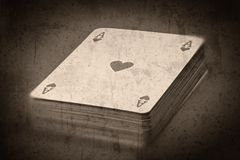 Grunge textured retro background - Deck of cards Royalty Free Stock Photos