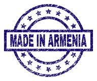Grunge Textured ROBI W ARMENIA znaczka foce ilustracja wektor