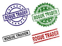 Grunge Textured ROGUE TRADER Seal Stamps royalty free illustration