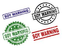 Grunge Textured soi ostrzeżenia foki znaczki ilustracji