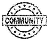 Grunge Textured społeczność znaczka fokę ilustracja wektor