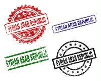 Grunge Textured SYRYJSKIEJ ARABSKIEJ republiki foki znaczki ilustracji