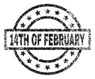 Grunge Textured 14TH LUTY znaczka foka royalty ilustracja