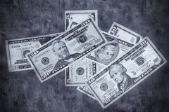 Grunge textured US dollars background Royalty Free Stock Photos