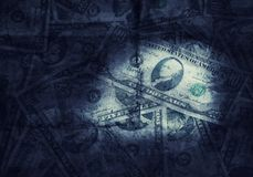 Grunge textured US dollars background Stock Photos