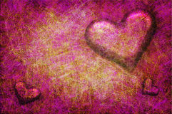 Grunge textured for Valentines day Royalty Free Stock Images