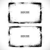 Grunge textured vector frames. Vector banners Royalty Free Stock Photos