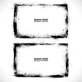 Grunge textured vector frames. Grunge textured vector vintage frames Stock Images