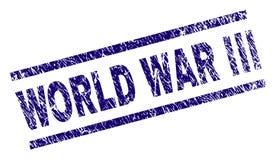 Grunge Textured wojny światowa III Stemplową fokę ilustracja wektor