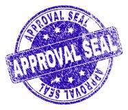 Grunge Textured zatwierdzenie foki znaczka fokę ilustracja wektor