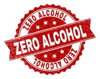 Grunge Textured ZERO ALCOHOL Stamp Seal Royalty Free Stock Images