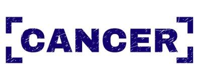 Grunge texturerad CANCERstämpelskyddsremsa mellan hörn stock illustrationer
