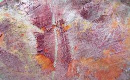 Grunge texturerad färgbakgrund Målad bakgrund för konst abstrakt begrepp i färger för gammal guld, brunt-, beiga-, guling- och vi Royaltyfri Foto