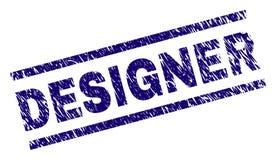 Grunge texturerad FORMGIVARE Stamp Seal vektor illustrationer