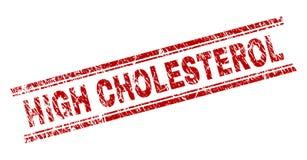 Grunge texturerad HÖJDPUNKT - kolesterolstämpelskyddsremsa royaltyfri illustrationer