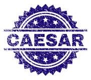 Grunge texturerade CAESAR Stamp Seal royaltyfri illustrationer