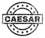 Grunge texturerade CAESAR Stamp Seal stock illustrationer